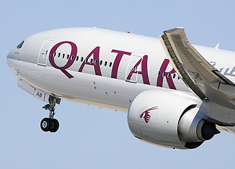Qatar Airways B777 front (Qatar Airways)