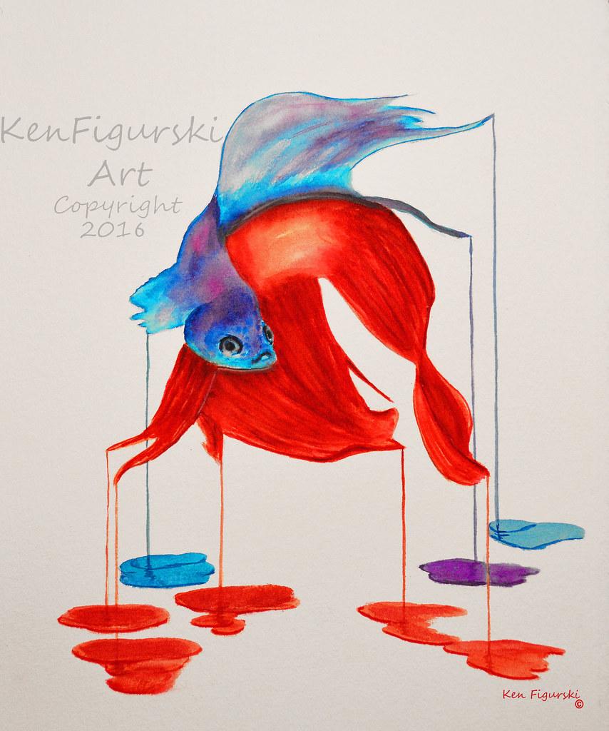 Siamese Fighting Fish, Watercolor | fineartamerica.com/featu… | Flickr