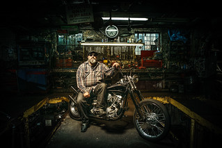 Jeff and his custom 1967 Shovelhead | by Sebastian D. Szyszka