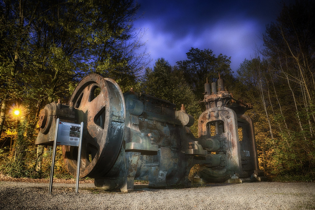 Krupp-Gruson Walzgerüst | Das Walzgerüst diente im Walzwerk … | Flickr