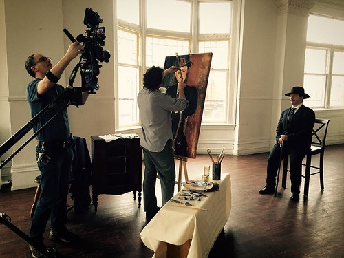 I will play #Modigliani in the upcoming #fifthESTATE episode for the #CBC on April 8th #seatedMANwithaCANE #theGREAThall #Toronto #painter #michaeltoke | by michael TOKE