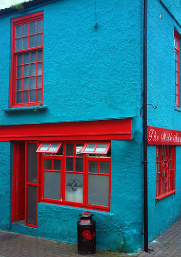 Bright Blue Building in Kinsale, Ireland