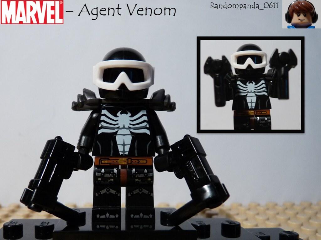 Agent Venom Agent Venom Lego Purist Minifigure Marvel Th Flickr