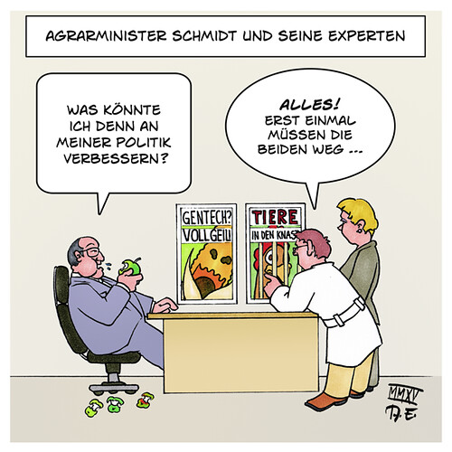 cartoon agrarminister schmidt und seine experten karikatu flickr. Black Bedroom Furniture Sets. Home Design Ideas