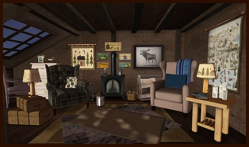 Out with the old 2016- Cozy Cabin | by Hidden Gems in Second Life (Interior Designer)
