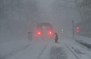 New York City Transit During Blizzard | by MTAPhotos