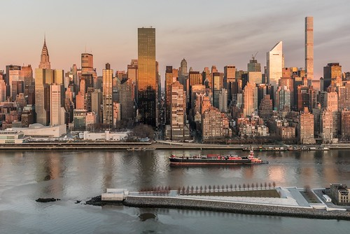 Sunkissed Manhattan. View of Manhattan skyline at sunrise this morning. | by javansg