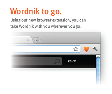 Wordnik Browser Extension | by sikelianos