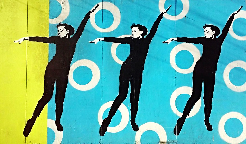 Audrey Hepburn Street Wall Painting