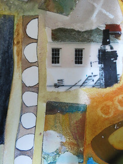 st. ives mixed media collage | by Carolyn Saxby