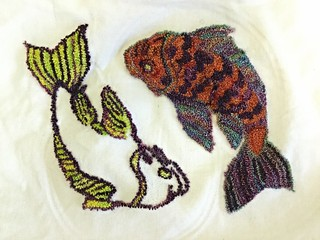 Koi Needlepunch Embroidery | by Twill Power