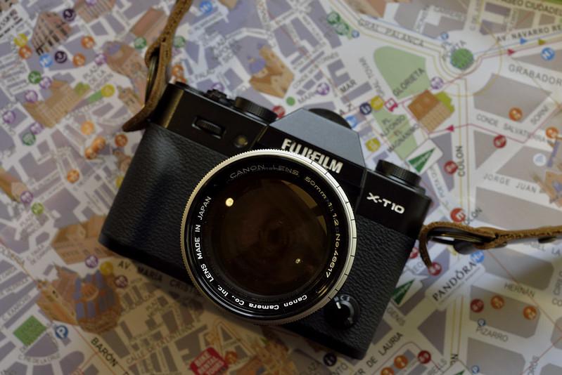 Fuji X-T10+adapter+Canon 50mmF1.2(L39)