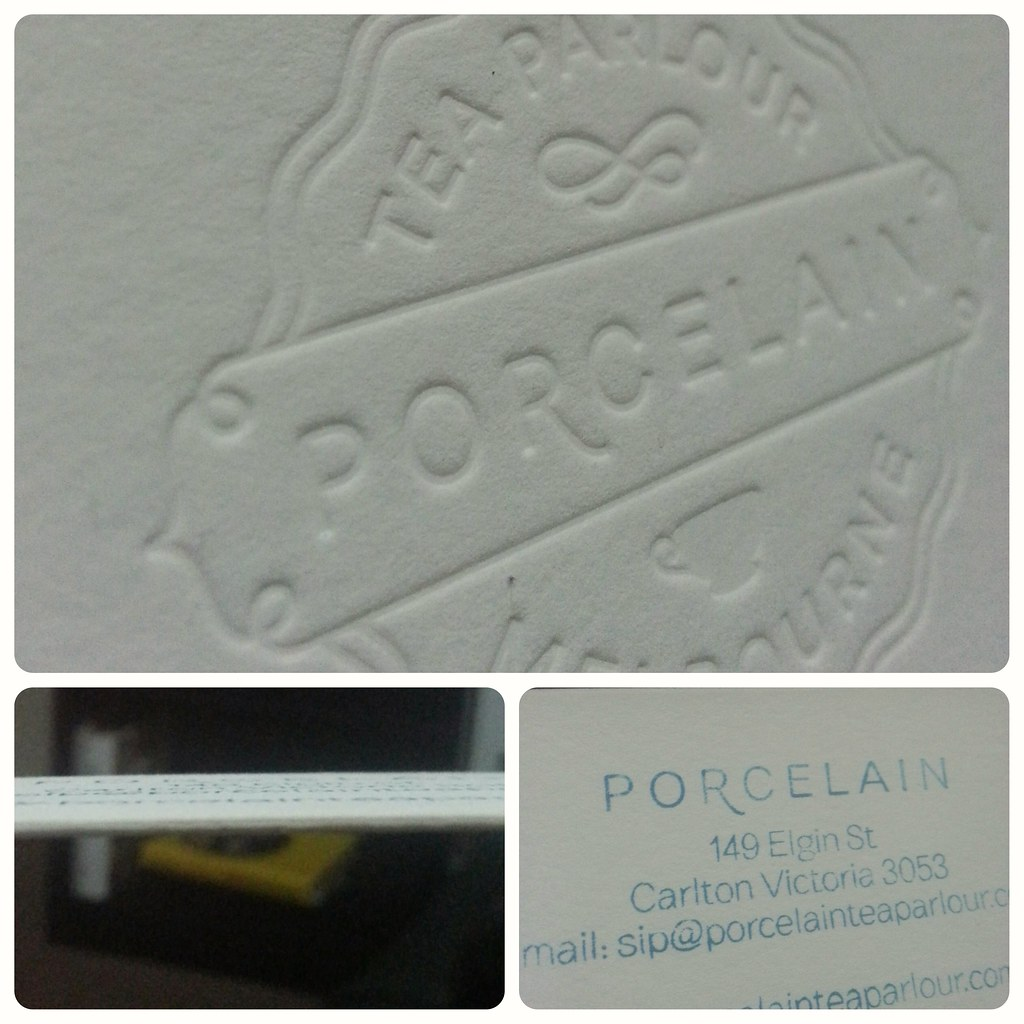 The Gorgeous Embossed Business Cards From Porcelain Tea Pa Flickr