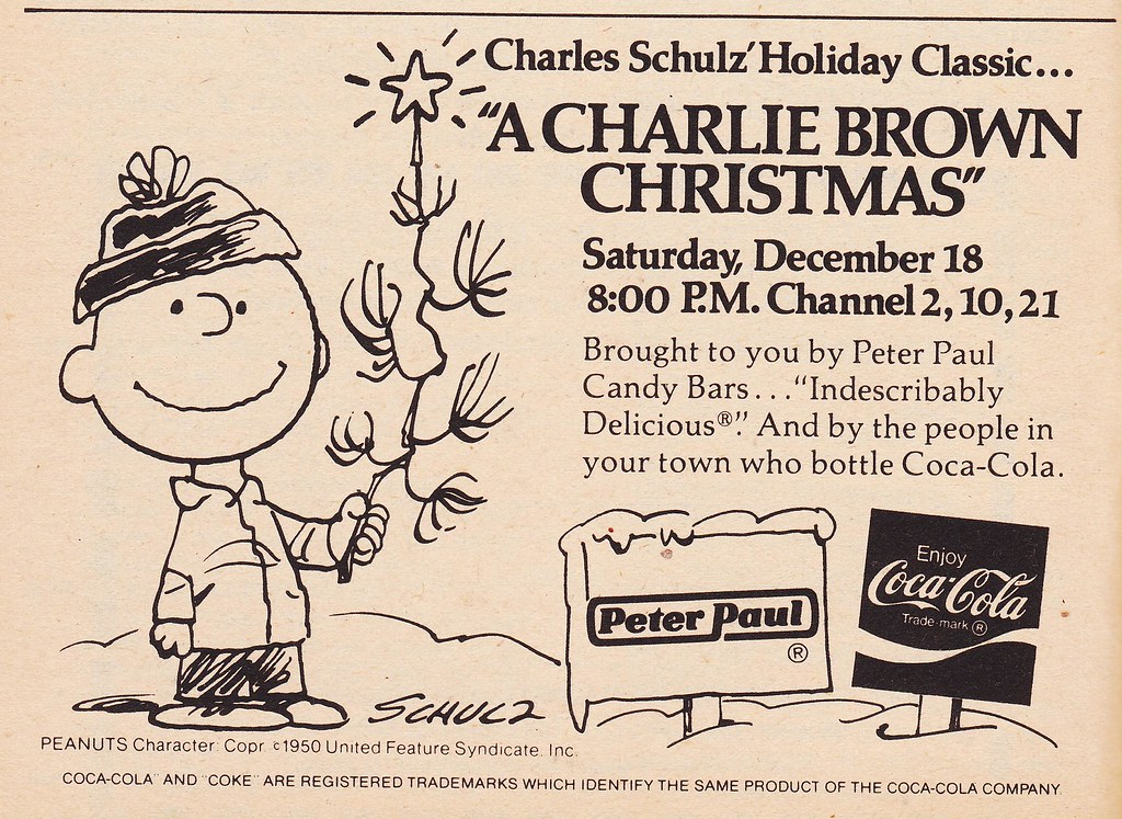 retro christmas 1976 tv guide ad for a charlie brown christmas by - Charlie Brown Christmas On Tv