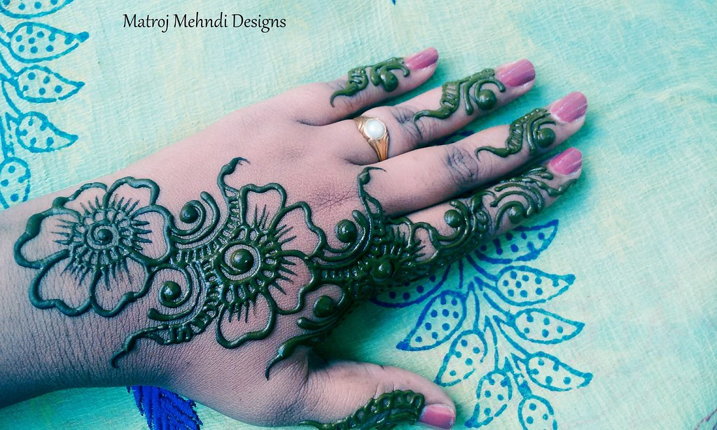 Beautiful Simple Easy Mehndi Design For Hands Matroj Mehnd Flickr