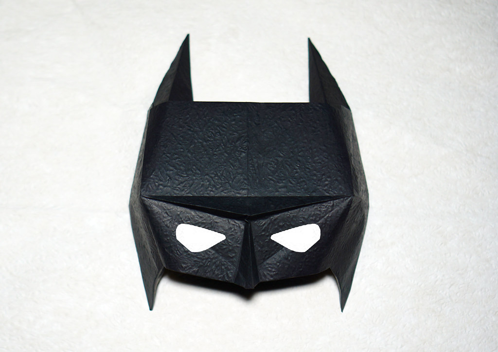Origami Batman Mask Designed By Henry Phm Henry Phm Flickr