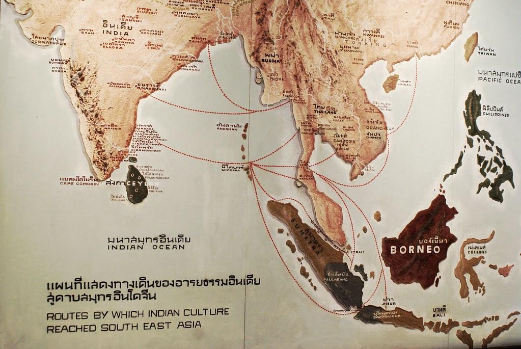 Parcours de la culture indienne en Asie du sud-est au Musée National à Bangkok.