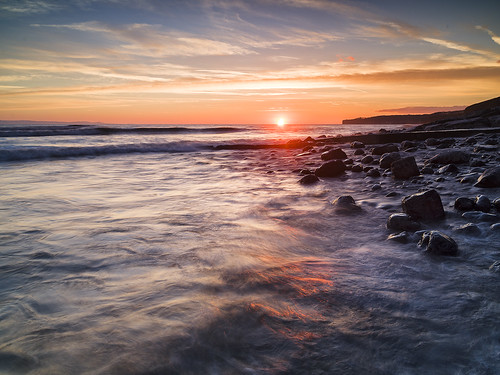 Sunset at Llantwit Major-3 copy | by singingsnapper