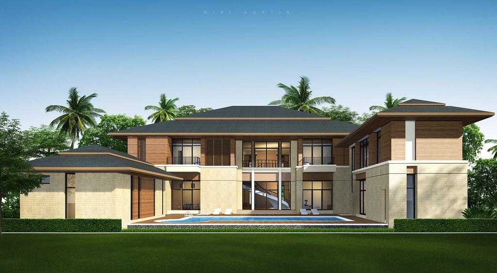 ... Tropical Modern House | by Taweesak Boonwirut & Tropical Modern House | Sketch Up 3D Design And Rendering Wi\u2026 | Flickr