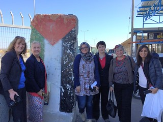 TechWomen Eileen Brewer, Erin Keeley, Aliya Janjua, Jessica Dickinson Goodman, Mai Temraz, Katy Dickinson in Gaza City February 2016