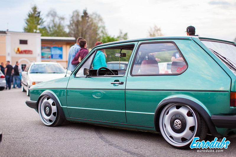 "Golf MK1 on VW T5 wheels 17"""