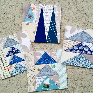 Beautiful mail from Anneliese (mailfromcheekymonkey) !! Thank you!  I love these 💙🌲💙🌲💙🌲💙 They are going to be perfect in my Geese in the forest quilt! | by Lizzie - Swedish Scrapper