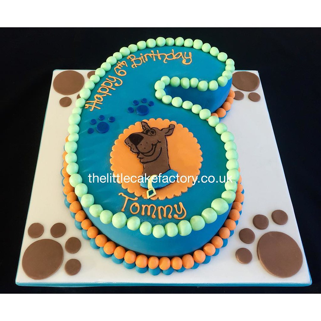 Scooby Number 6 Cake Scoobydoo Number 6 Birthday Birt Flickr