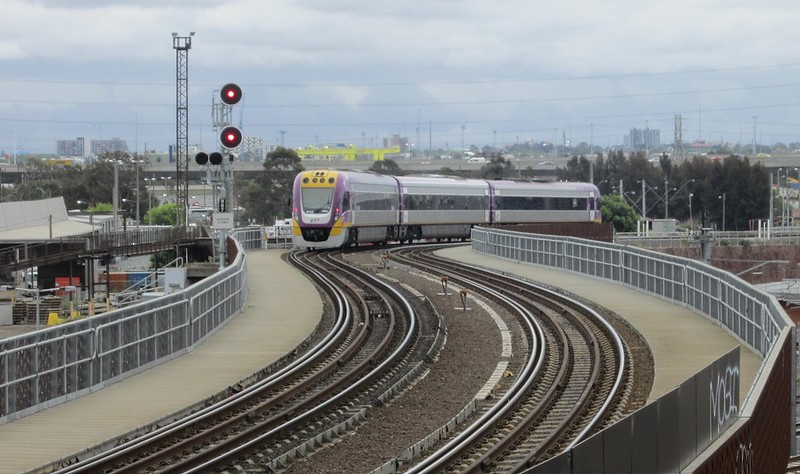 V/Line North Melbourne flyover