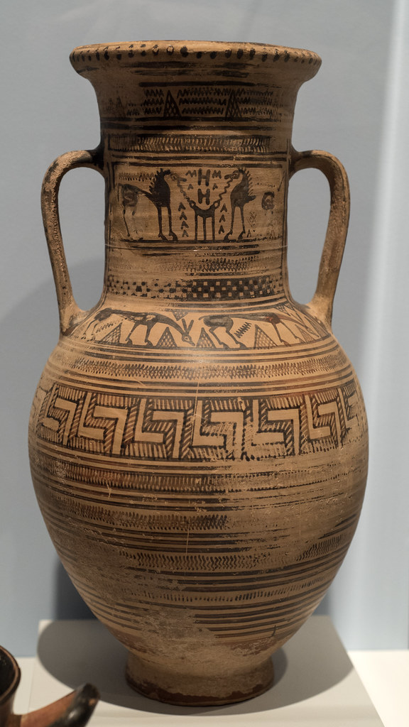 Attic Late Geometric Neck Amphora At Stanford The Neck Bea Flickr