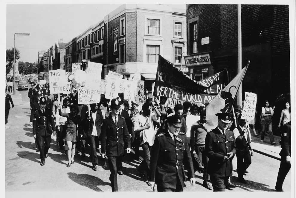 Black Power Demonstration And March Lancaster Road West London 1970