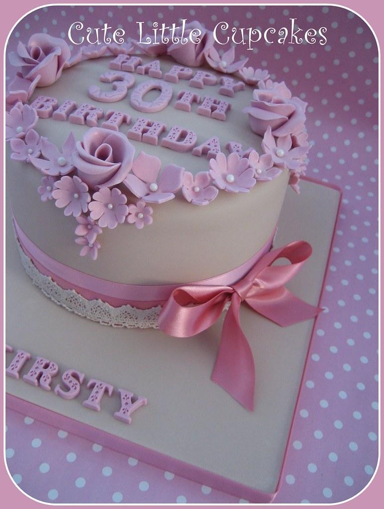 Shabby Chic 30th Birthday Cake Heidi Stone Flickr