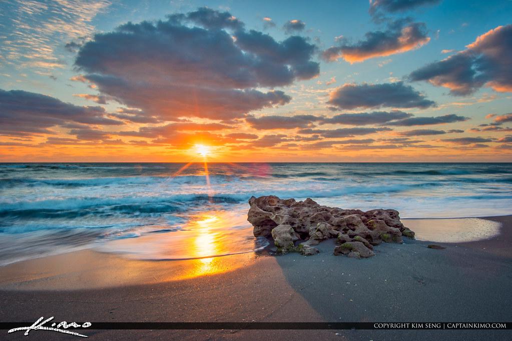 Amazing Sunrise Florida Beach Landscape Sunrise From Coral Flickr