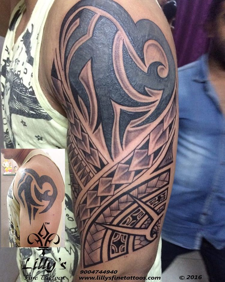 Loved Doing Dis Fully Free Hand Maori Tattoo Customised T Flickr
