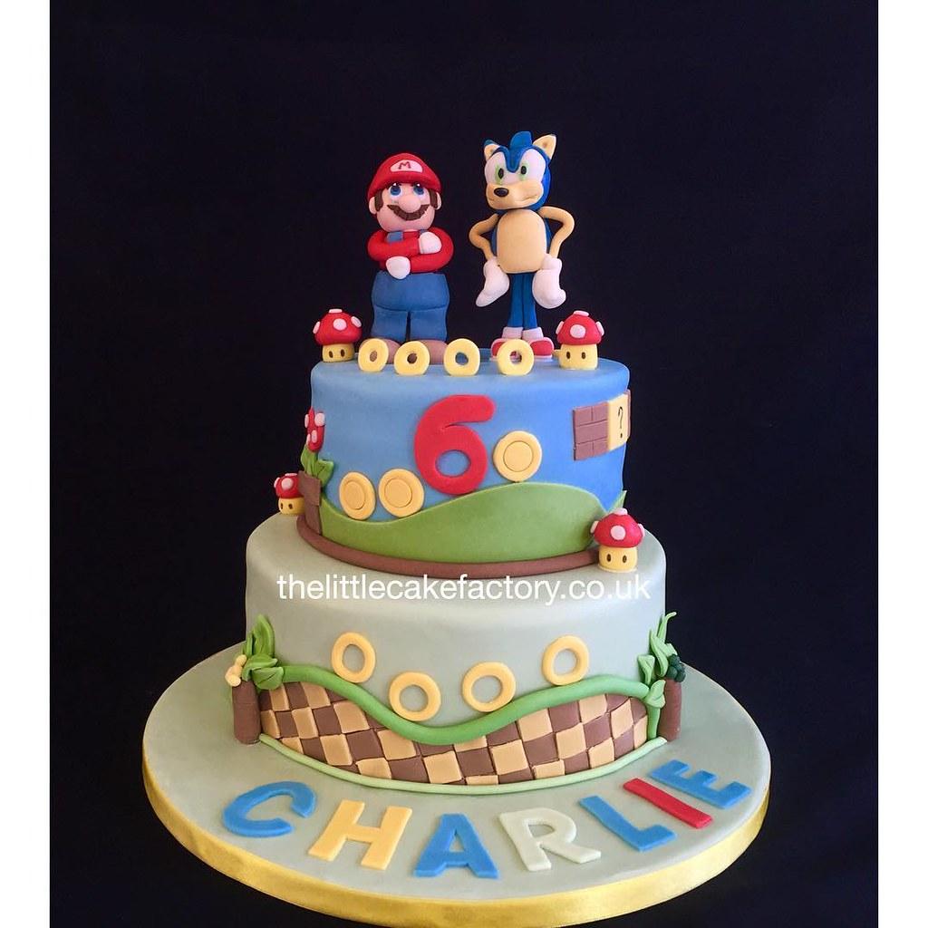 Mario Sonic Birthday Cake Supermario Supermarioworld So Flickr