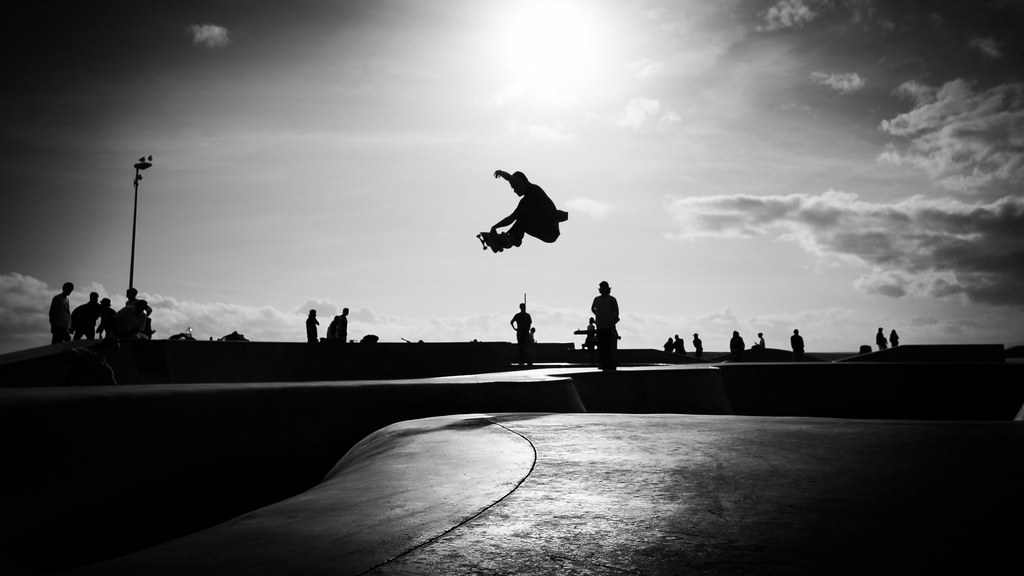 Venice beach los angeles united states black and white street photography by