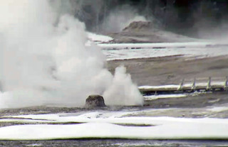 Beehive's Indicator Geyser eruption (3:47-3:58 PM, 12 January 2016) | by James St. John