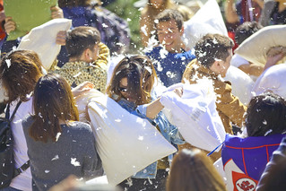 International Pillow Fight in Vancouver