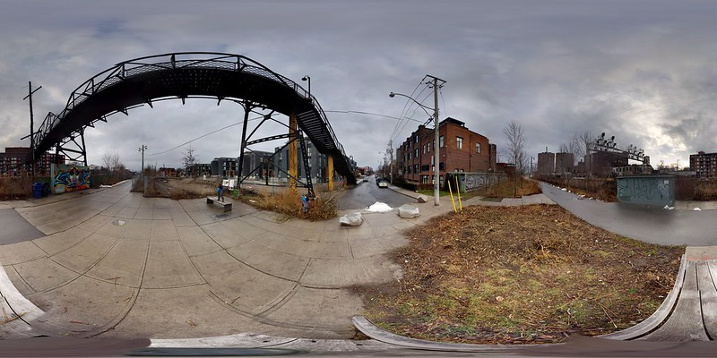 Wallace Ave. Footbridge and West Toronto Railpath