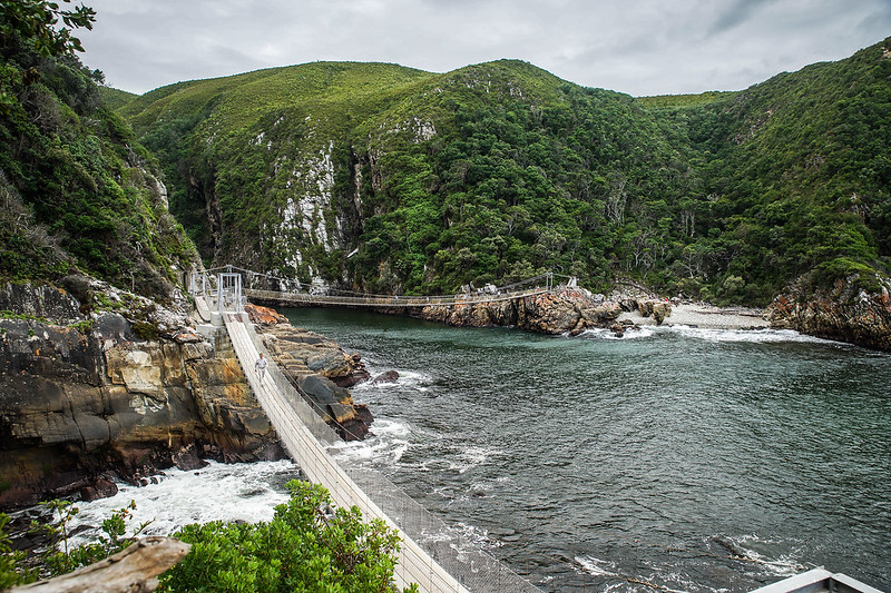 Storms river mouth walking bridge South Africa Etelä-Afrikka Tsitsikamma