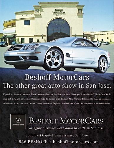 Beshoff motorcars san jose ca mercedes benz 2005 ad for Mercedes benz san jose