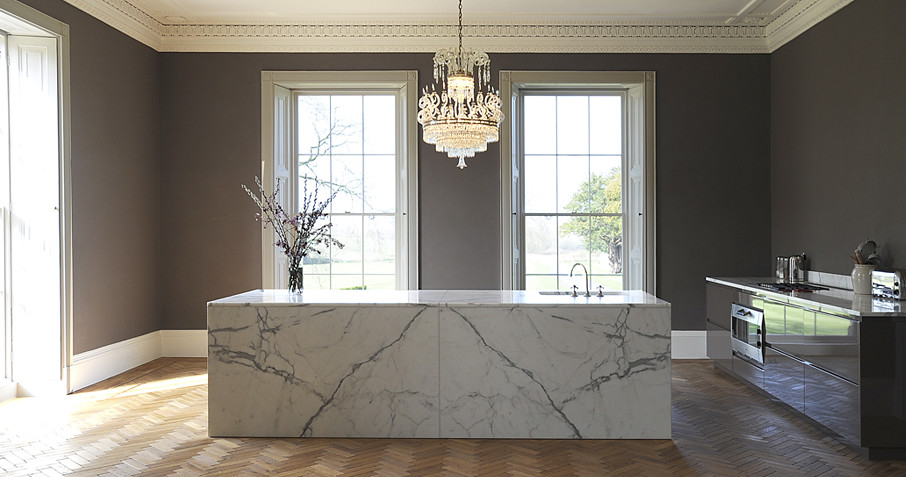 Delicieux ... Luxury Marble Kitchen Island   By Artichoke Kitchens