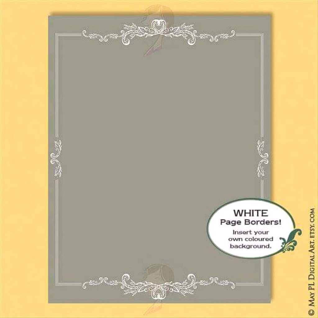 Gorgeous rococo design 8x11 size place in your own backgro… | Flickr