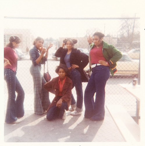 Group of African American girls wearing bell bottom pants | by simpleinsomnia