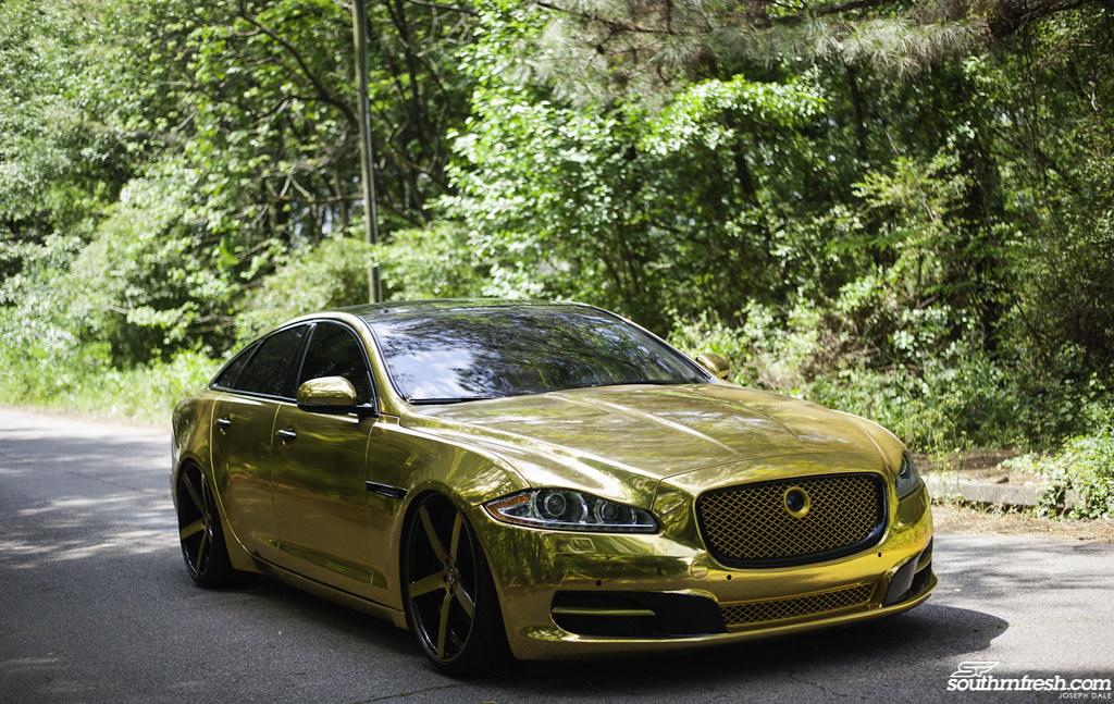 Gold Jaguar Xj Gold Wrappedjaguar Xj Brushed Gold Rovos Flickr