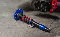 Lowering car on coilovers requires adjustable sway bar end