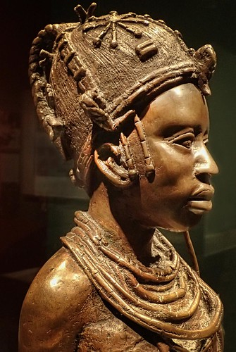 profile view of bronze sculpture of ideal benin woman by o u2026