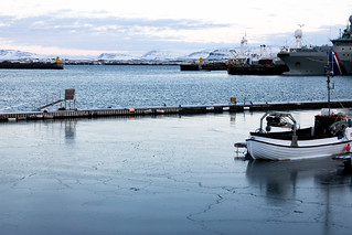 Ice starting to form on the harbour | by HelenPalsson