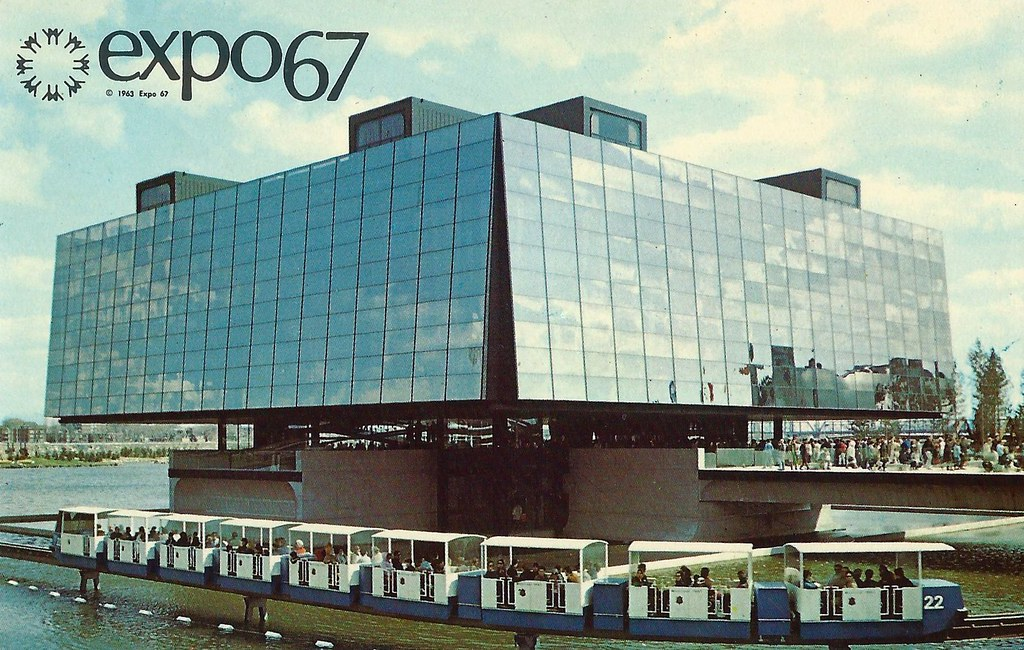 Vintage Expo 67 Postcard The 1967 Montreal Worlds Fair