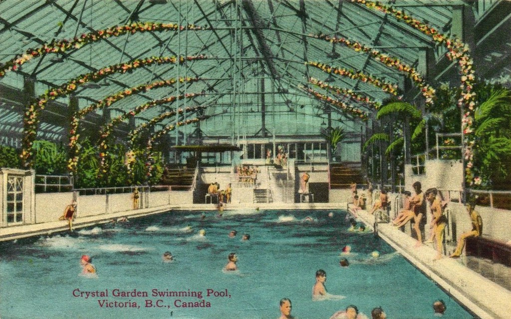 postcard crystal gardens victoria bc c1930s by blizzy63 - Crystal Garden