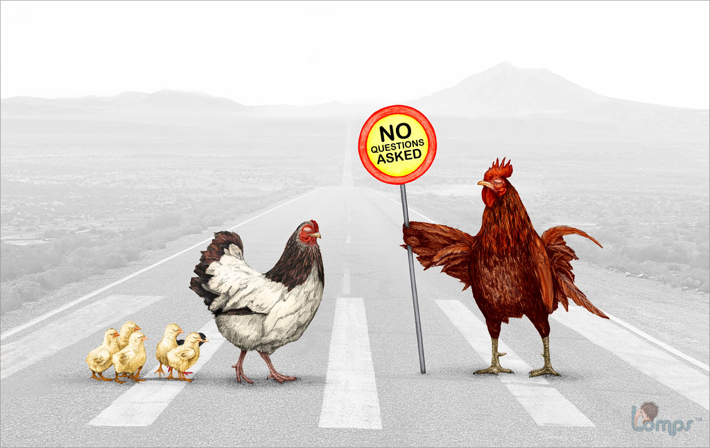 why did the chicken cross the road latest one of my artwo flickr